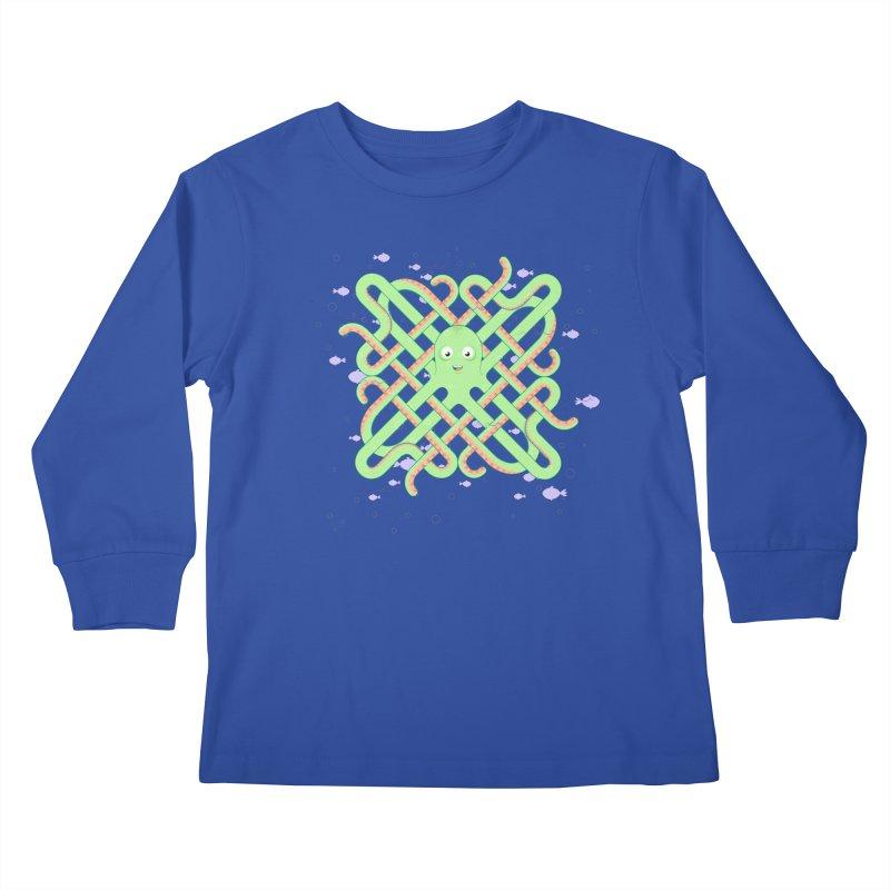 Octopus Kids Longsleeve T-Shirt by cumulo7's Artist Shop