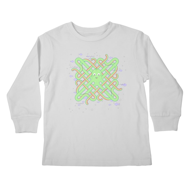 Octopus Kids Longsleeve T-Shirt by Cumulo 7