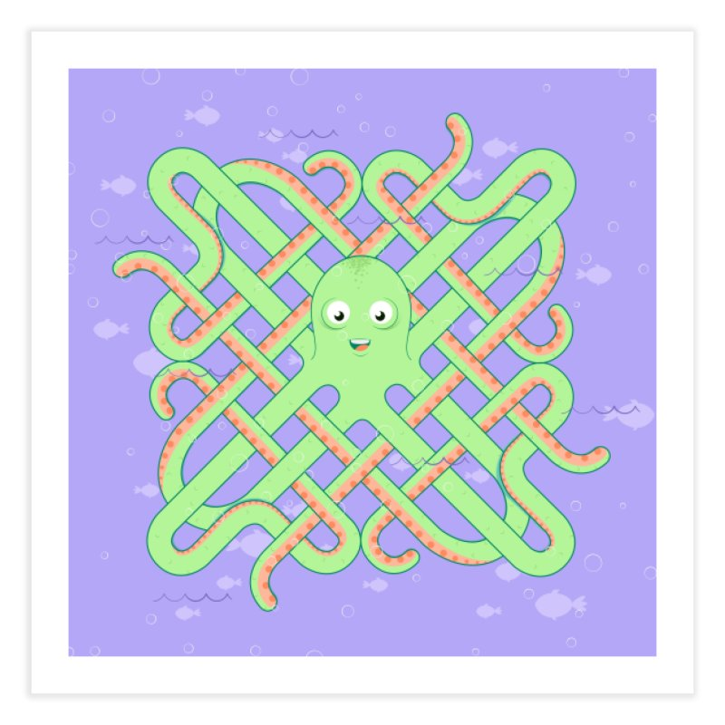 Octopus Home Fine Art Print by Cumulo 7