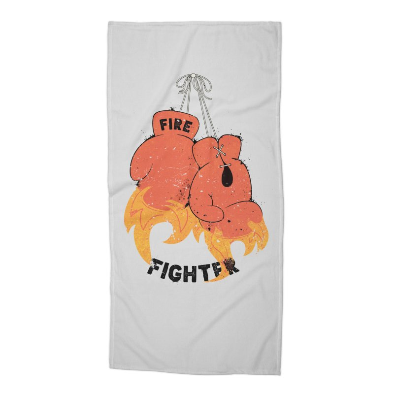 Fire Fighter Accessories Beach Towel by cumulo7's Artist Shop