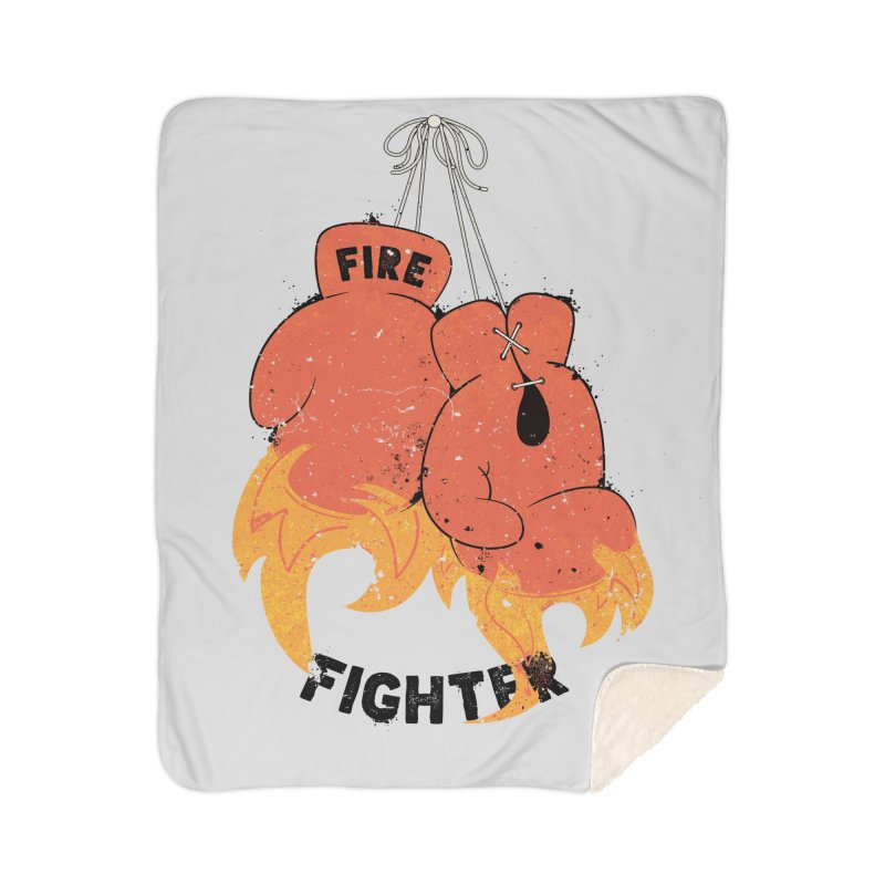 Fire Fighter Home Sherpa Blanket Blanket by Cumulo 7