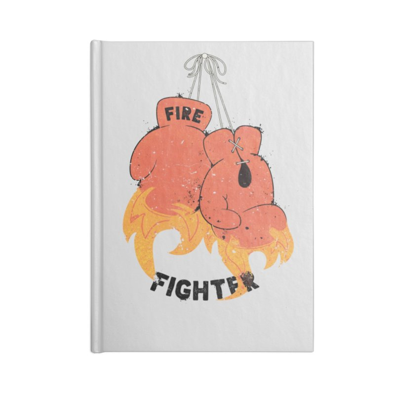 Fire Fighter Accessories Lined Journal Notebook by Cumulo 7