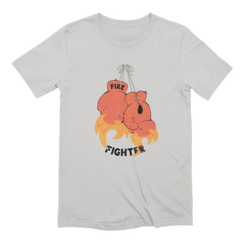 Fire Fighter Men's Extra Soft T-Shirt by cumulo7's Artist Shop