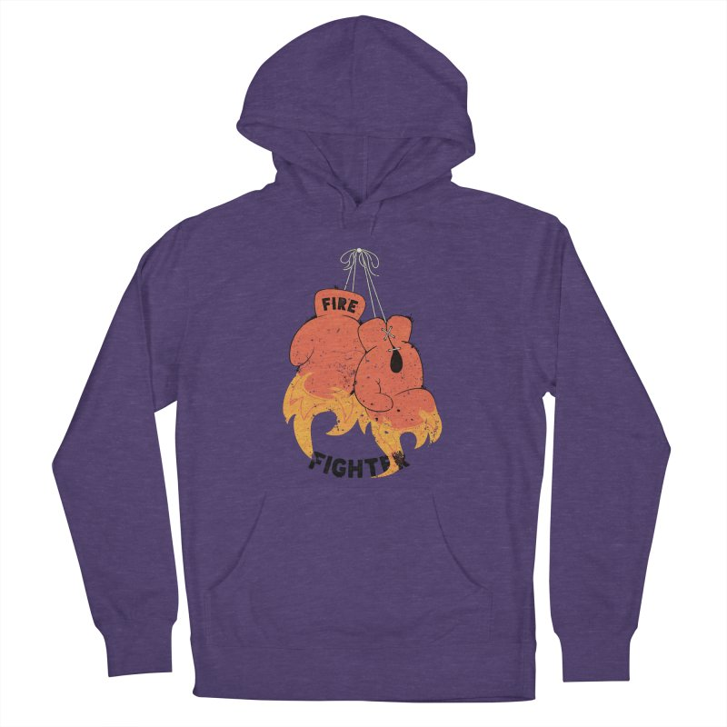 Fire Fighter Women's French Terry Pullover Hoody by cumulo7's Artist Shop