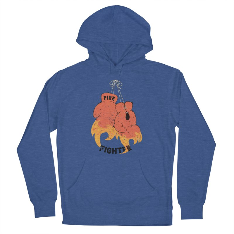Fire Fighter Men's French Terry Pullover Hoody by cumulo7's Artist Shop