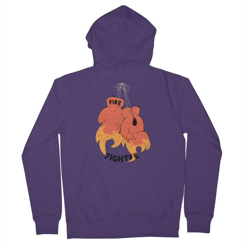 Fire Fighter Women's French Terry Zip-Up Hoody by cumulo7's Artist Shop