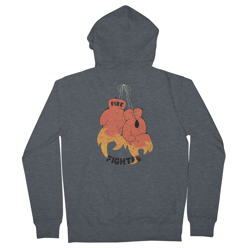 Fire Fighter Men's French Terry Zip-Up Hoody by cumulo7's Artist Shop
