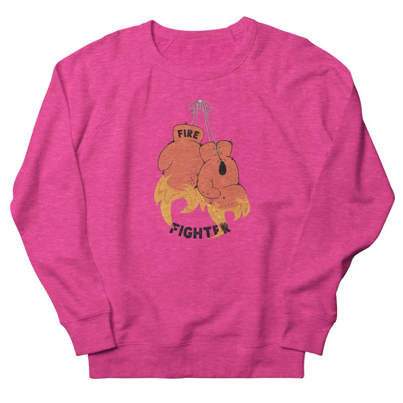 Fire Fighter Women's French Terry Sweatshirt by cumulo7's Artist Shop