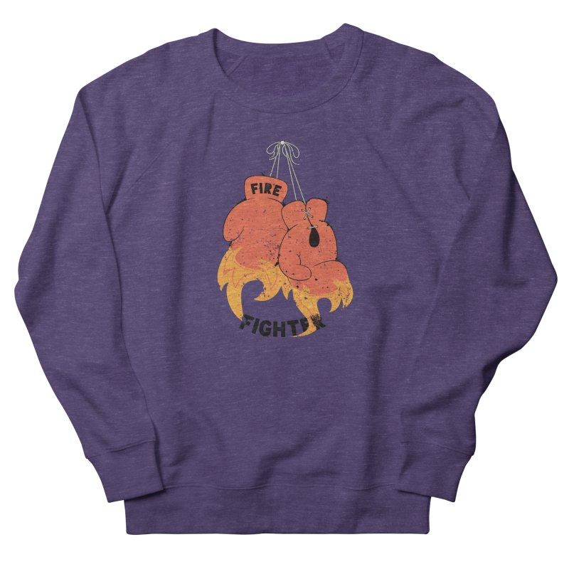 Fire Fighter Men's French Terry Sweatshirt by Cumulo 7