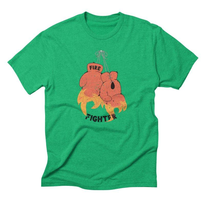 Fire Fighter Men's Triblend T-shirt by cumulo7's Artist Shop