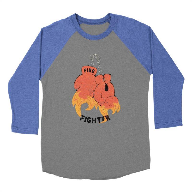 Fire Fighter Women's Baseball Triblend Longsleeve T-Shirt by cumulo7's Artist Shop