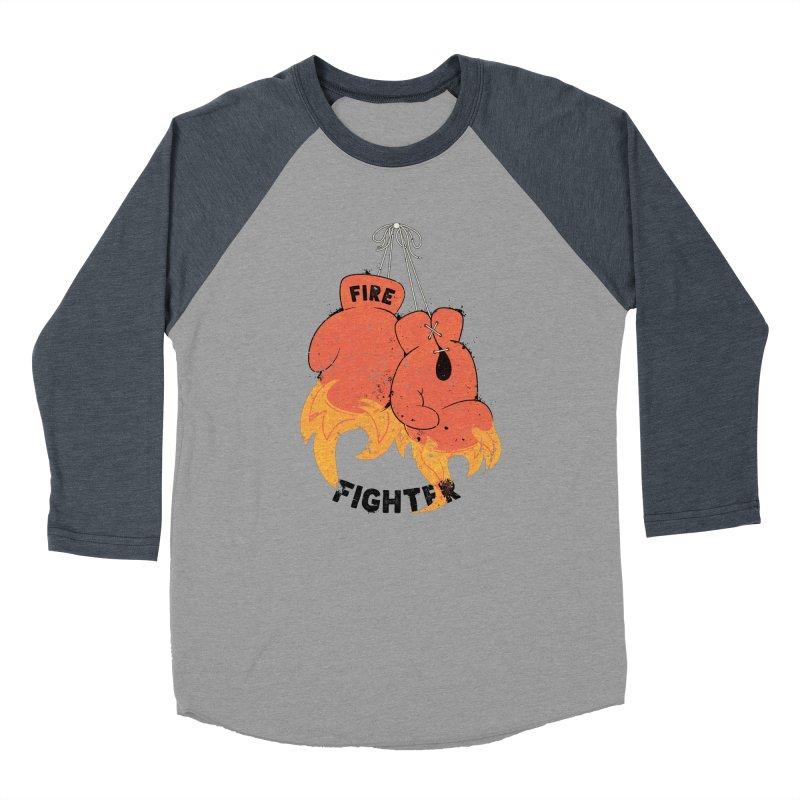 Fire Fighter Women's Baseball Triblend T-Shirt by cumulo7's Artist Shop
