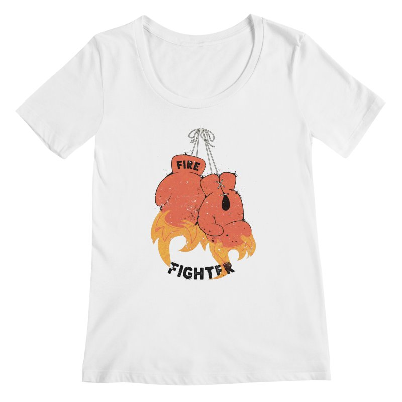 Fire Fighter Women's Regular Scoop Neck by Cumulo 7