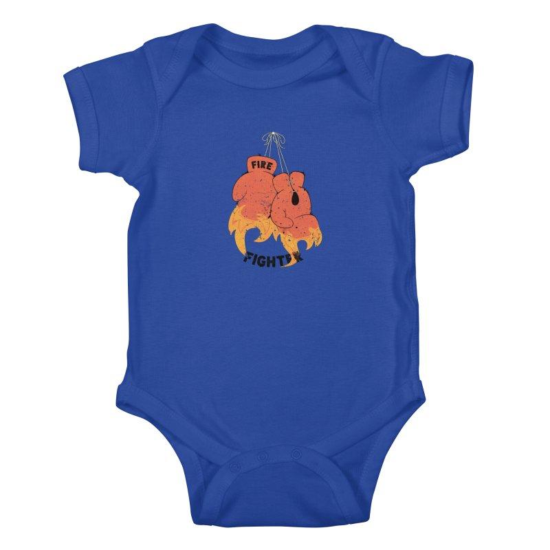 Fire Fighter Kids Baby Bodysuit by Cumulo 7