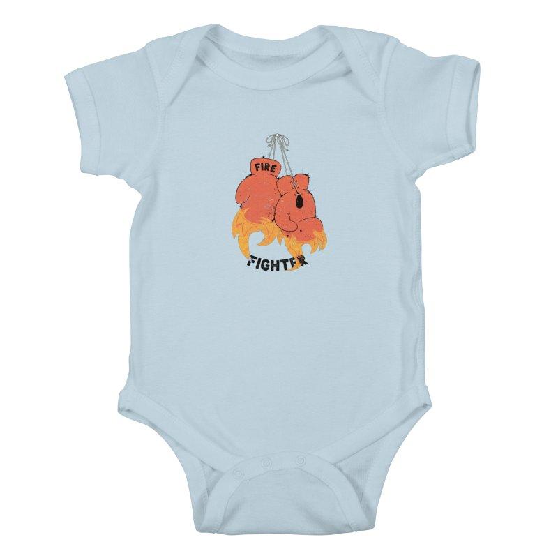 Fire Fighter Kids Baby Bodysuit by cumulo7's Artist Shop