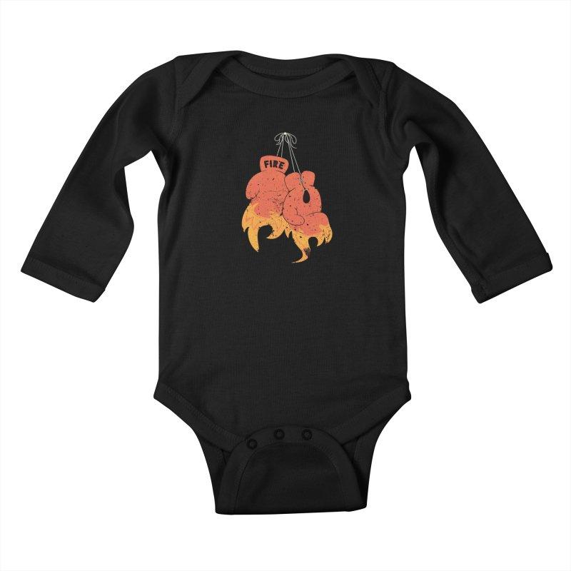 Fire Fighter Kids Baby Longsleeve Bodysuit by Cumulo 7