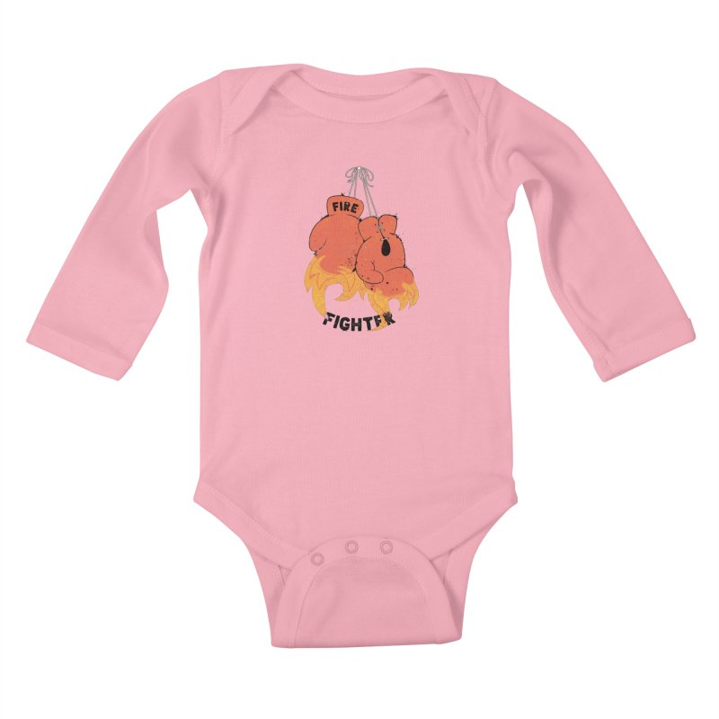Fire Fighter Kids Baby Longsleeve Bodysuit by cumulo7's Artist Shop