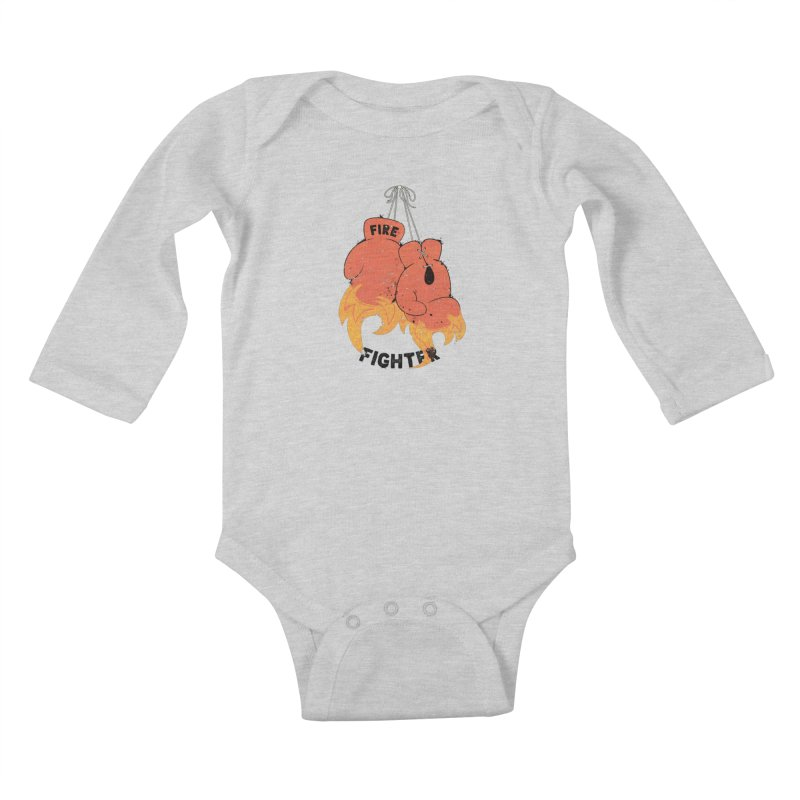 Fire Fighter Kids Baby Longsleeve Bodysuit by Cumulo 7