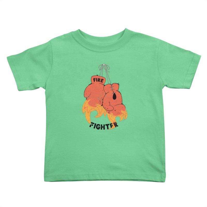 Fire Fighter Kids Toddler T-Shirt by cumulo7's Artist Shop