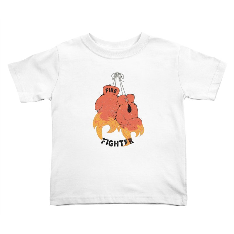 Fire Fighter Kids Toddler T-Shirt by cumulo7's Artist Shop