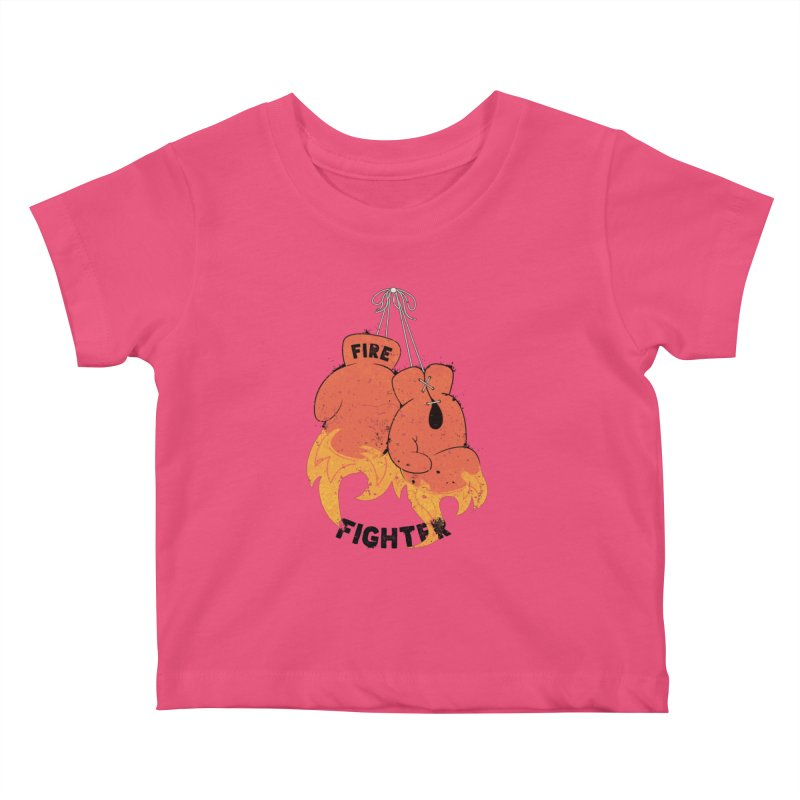 Fire Fighter Kids Baby T-Shirt by Cumulo 7