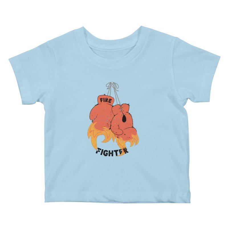 Fire Fighter Kids Baby T-Shirt by cumulo7's Artist Shop