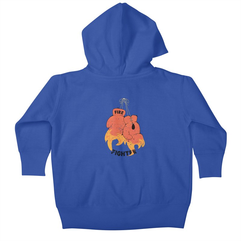 Fire Fighter Kids Baby Zip-Up Hoody by cumulo7's Artist Shop
