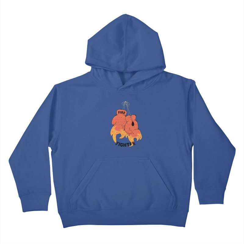 Fire Fighter Kids Pullover Hoody by Cumulo 7