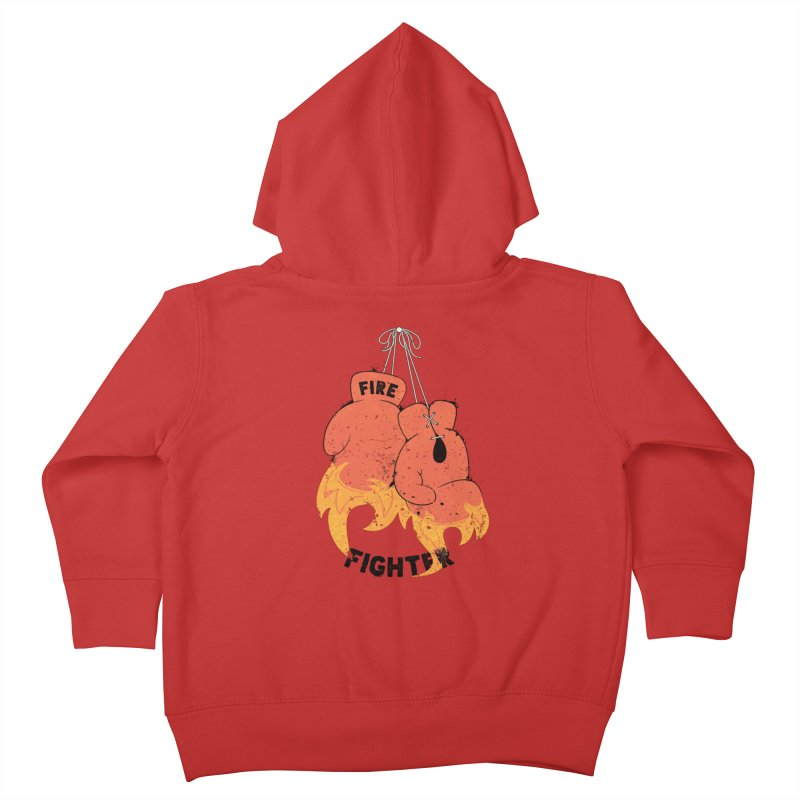 Fire Fighter Kids Toddler Zip-Up Hoody by cumulo7's Artist Shop