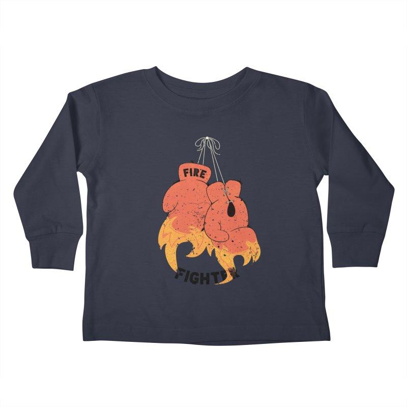 Fire Fighter Kids Toddler Longsleeve T-Shirt by Cumulo 7
