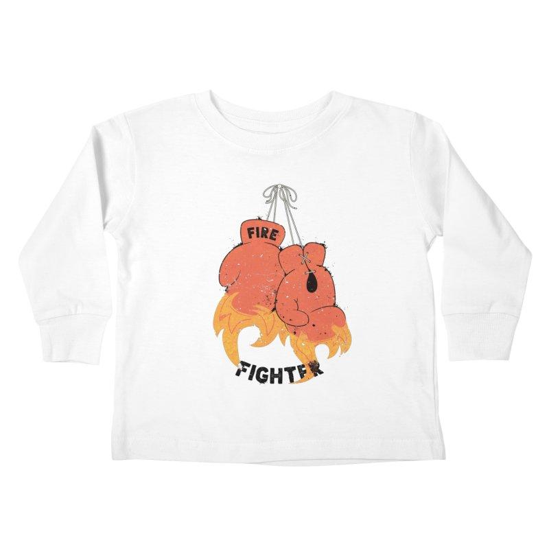 Fire Fighter Kids Toddler Longsleeve T-Shirt by cumulo7's Artist Shop