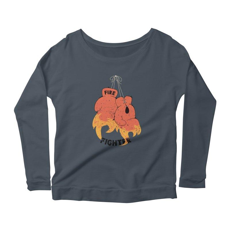 Fire Fighter Women's Scoop Neck Longsleeve T-Shirt by cumulo7's Artist Shop