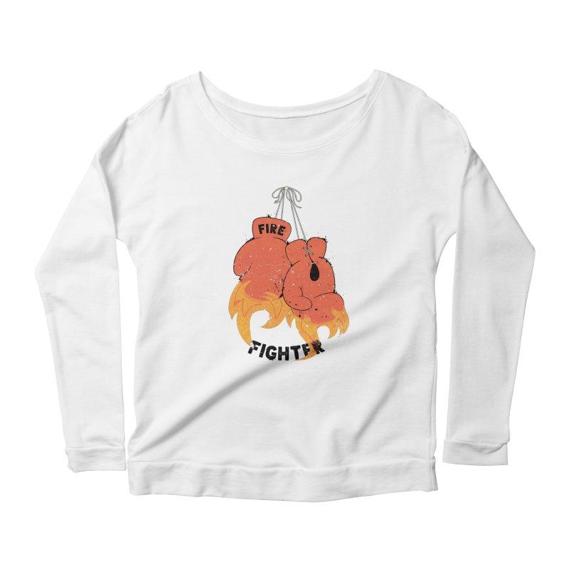 Fire Fighter Women's Scoop Neck Longsleeve T-Shirt by Cumulo 7