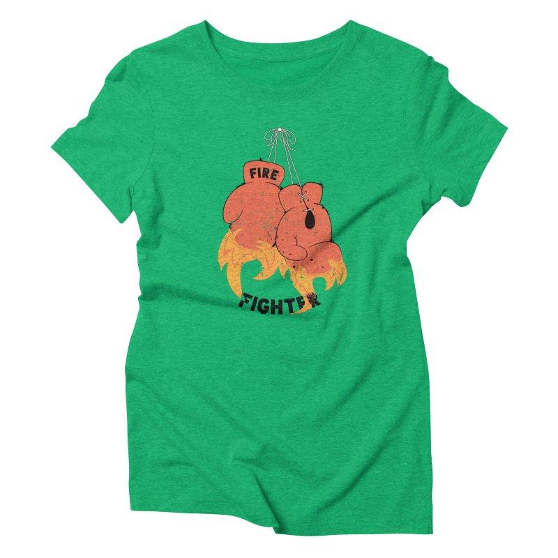 Fire Fighter Women's Triblend T-Shirt by cumulo7's Artist Shop