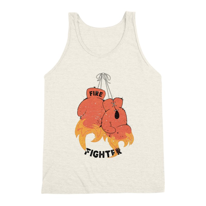 Fire Fighter Men's Triblend Tank by Cumulo 7