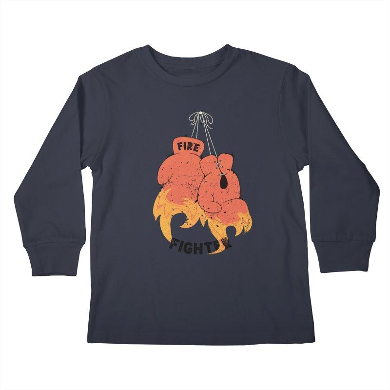 Fire Fighter Kids Longsleeve T-Shirt by cumulo7's Artist Shop