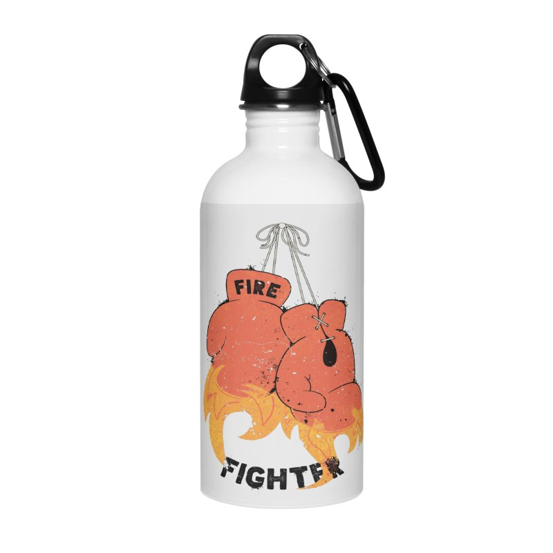 Fire Fighter Accessories Water Bottle by cumulo7's Artist Shop