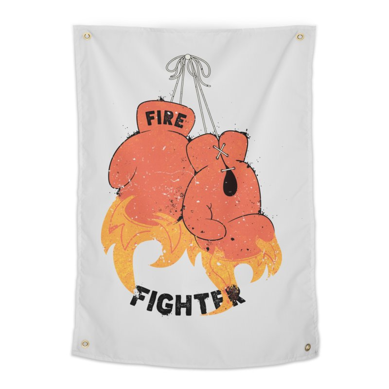 Fire Fighter Home Tapestry by Cumulo 7
