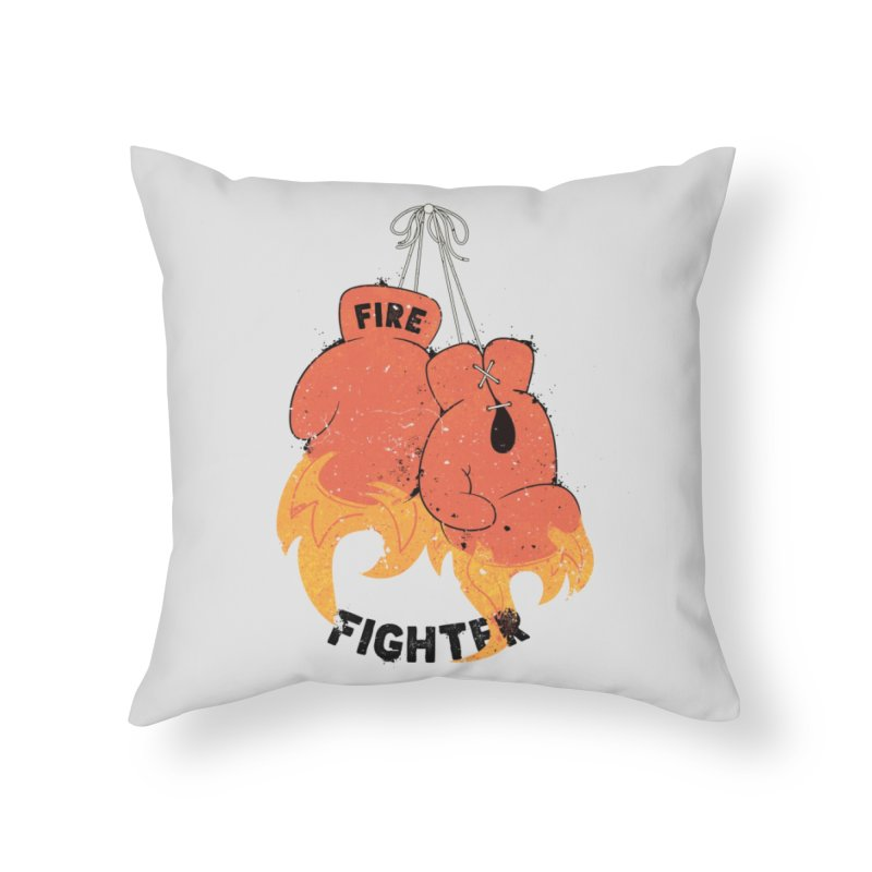 Fire Fighter Home Throw Pillow by cumulo7's Artist Shop