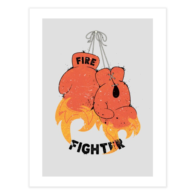 Fire Fighter Home Fine Art Print by cumulo7's Artist Shop
