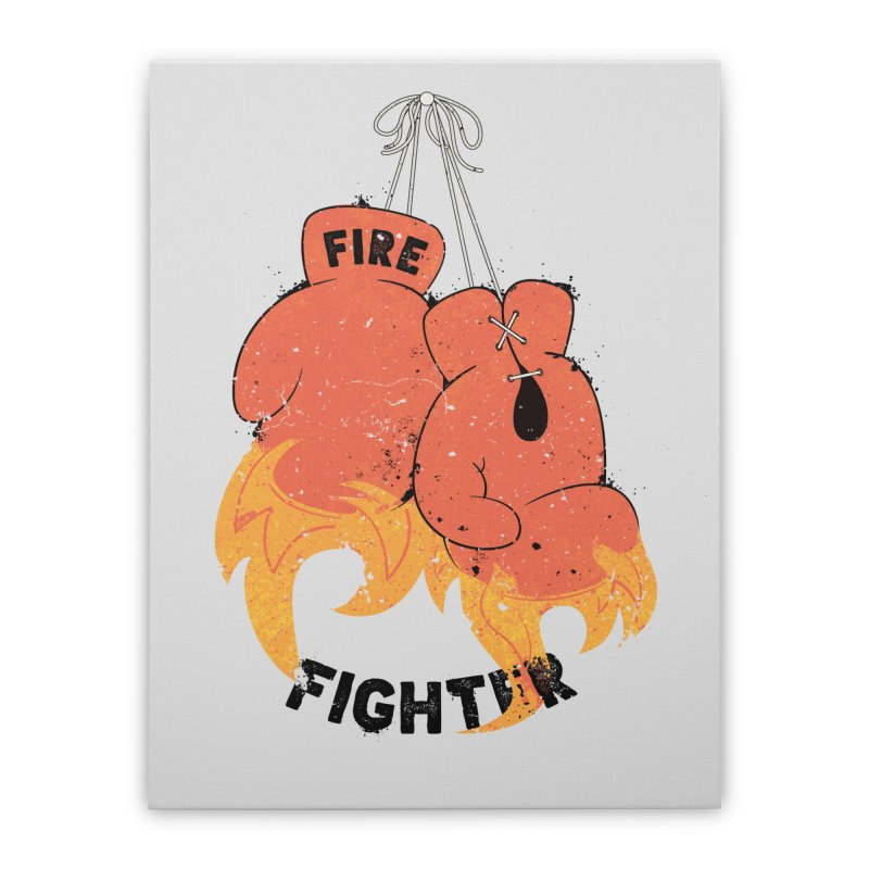 Fire Fighter Home Stretched Canvas by cumulo7's Artist Shop