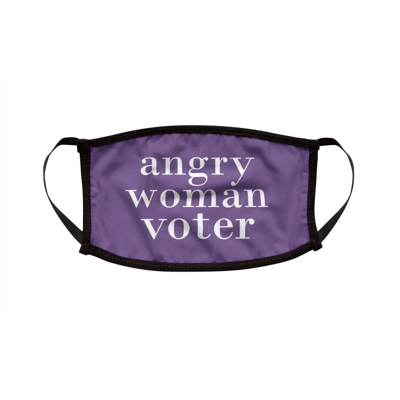 Angry Woman Voter Accessories Face Mask by Cunning Linguist Co.