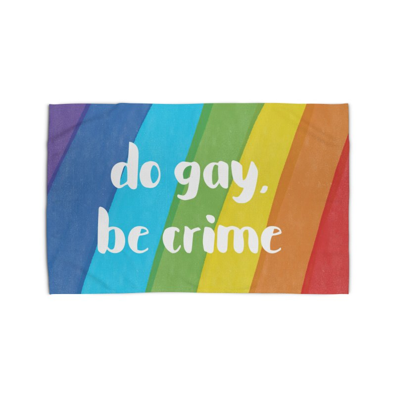 Do Gay, Be Crime Home Rug by Cunning Linguist Co.