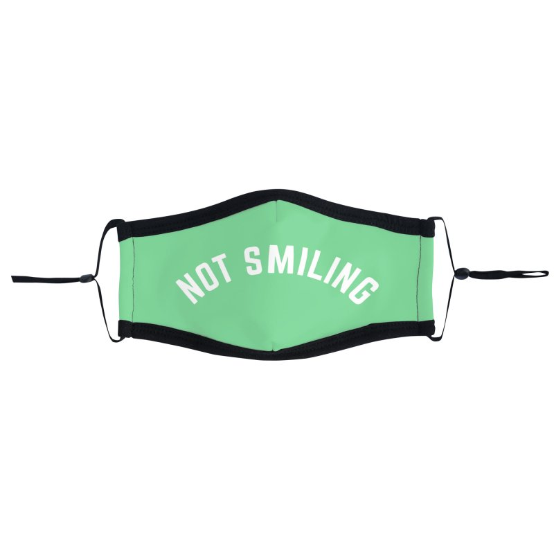 Not Smiling Accessories Face Mask by Cunning Linguist Co.
