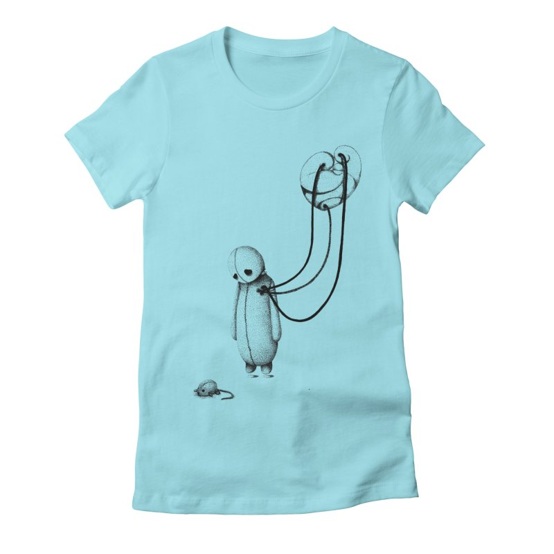 Float Women's Fitted T-Shirt by cuppadoodle's Artist Shop