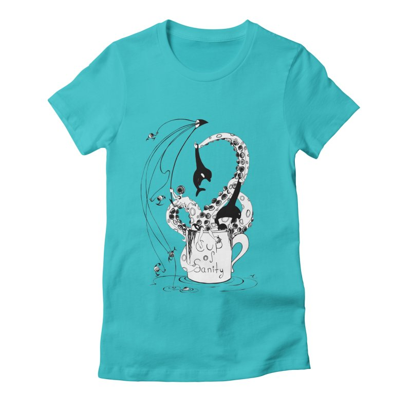 cup n'colour Women's Fitted T-Shirt by cuppadoodle's Artist Shop