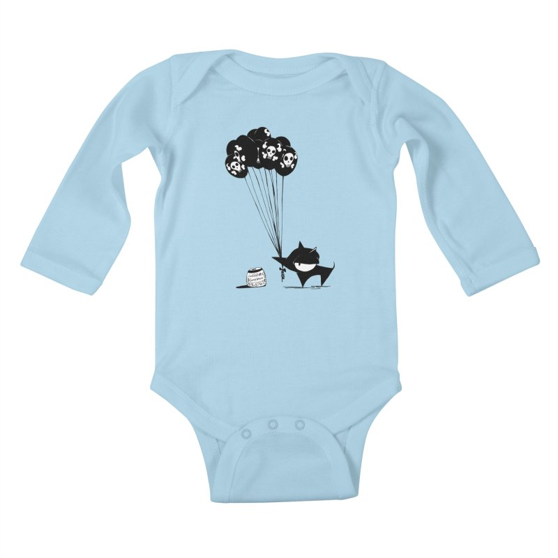 balloons Kids Baby Longsleeve Bodysuit by cuppadoodle's Artist Shop