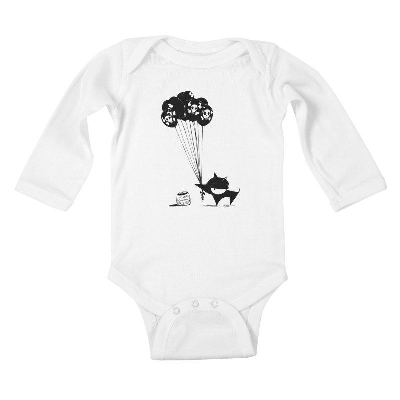 balloons Kids Baby Longsleeve Bodysuit by cuppadoodle's Artist Shop