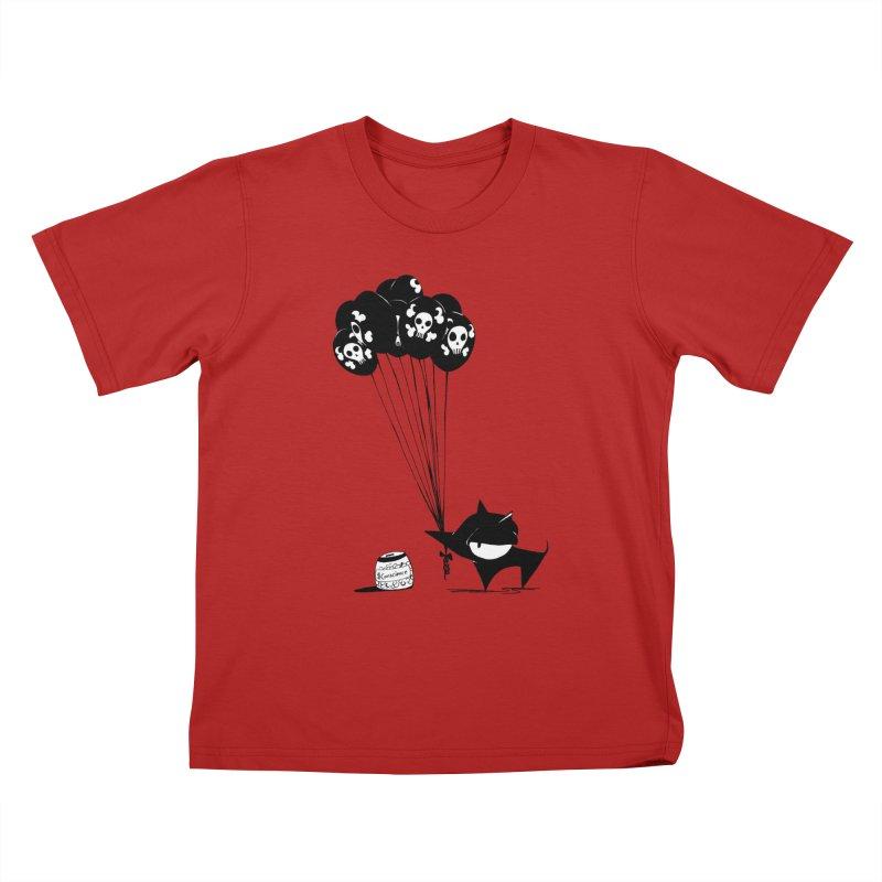 balloons Kids T-shirt by cuppadoodle's Artist Shop