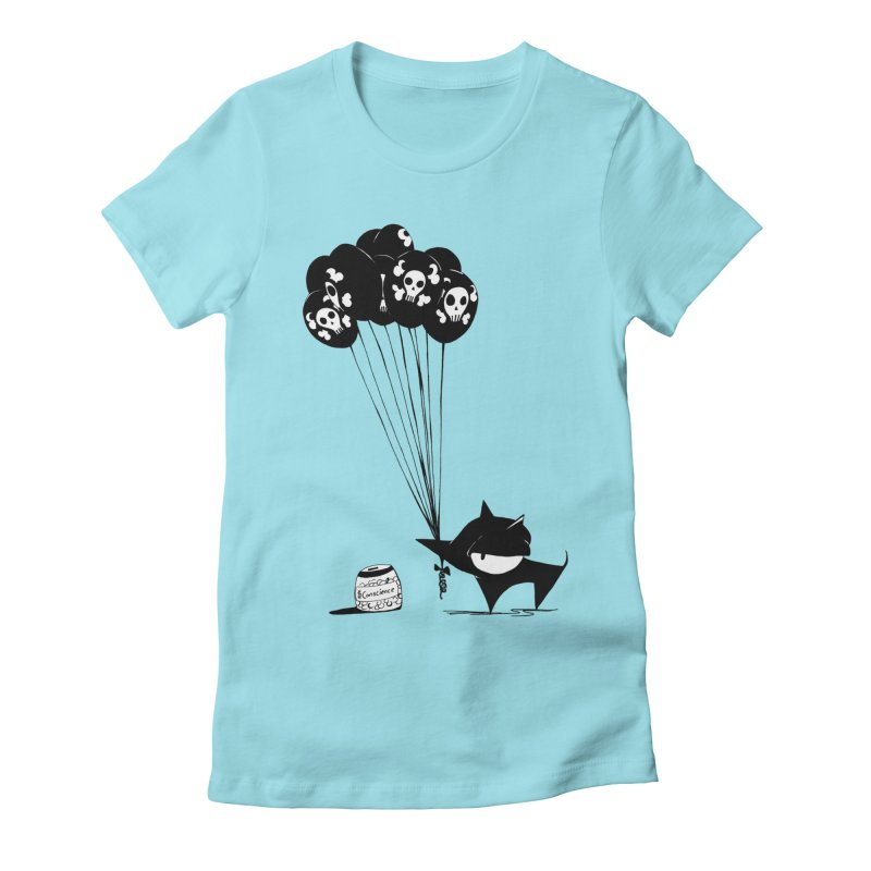 balloons Women's Fitted T-Shirt by cuppadoodle's Artist Shop